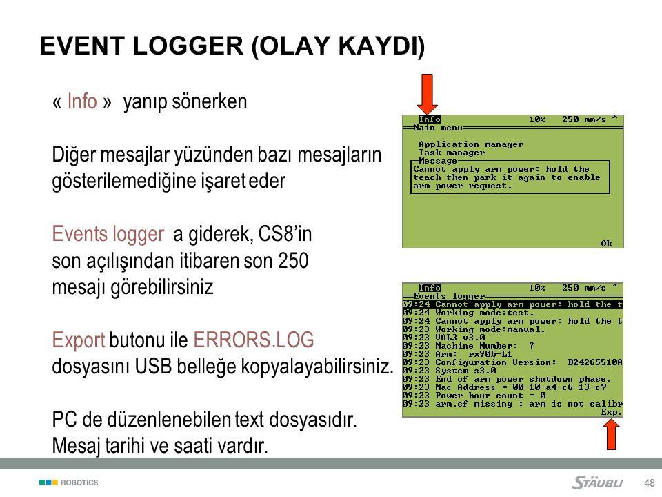 EVENT LOGGER (OLAY KAYDI)
