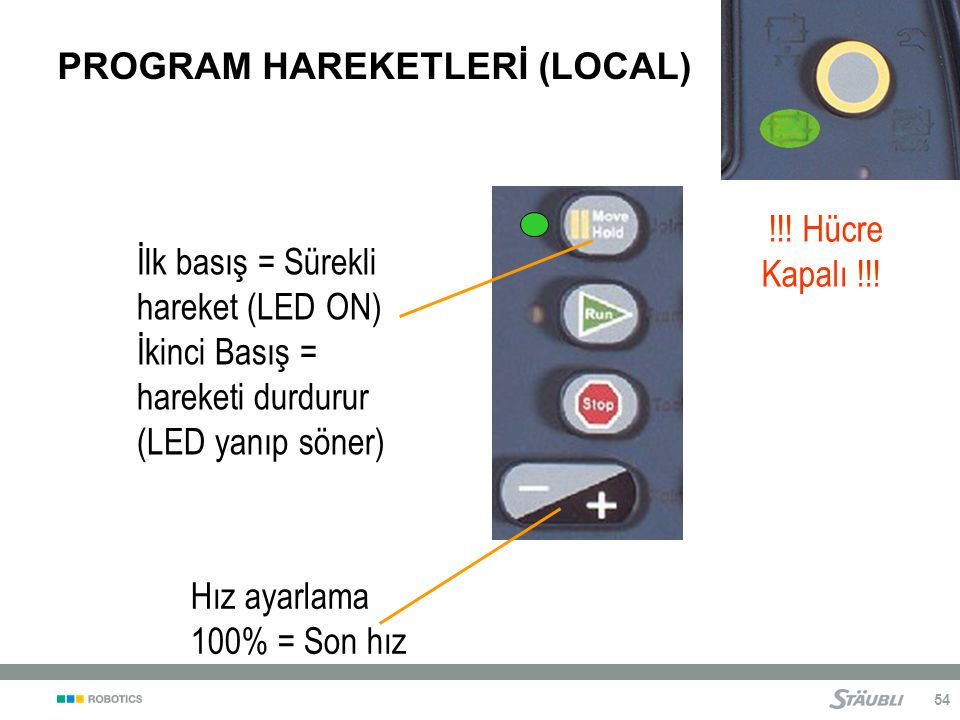 PROGRAM HAREKETLERİ (LOCAL)