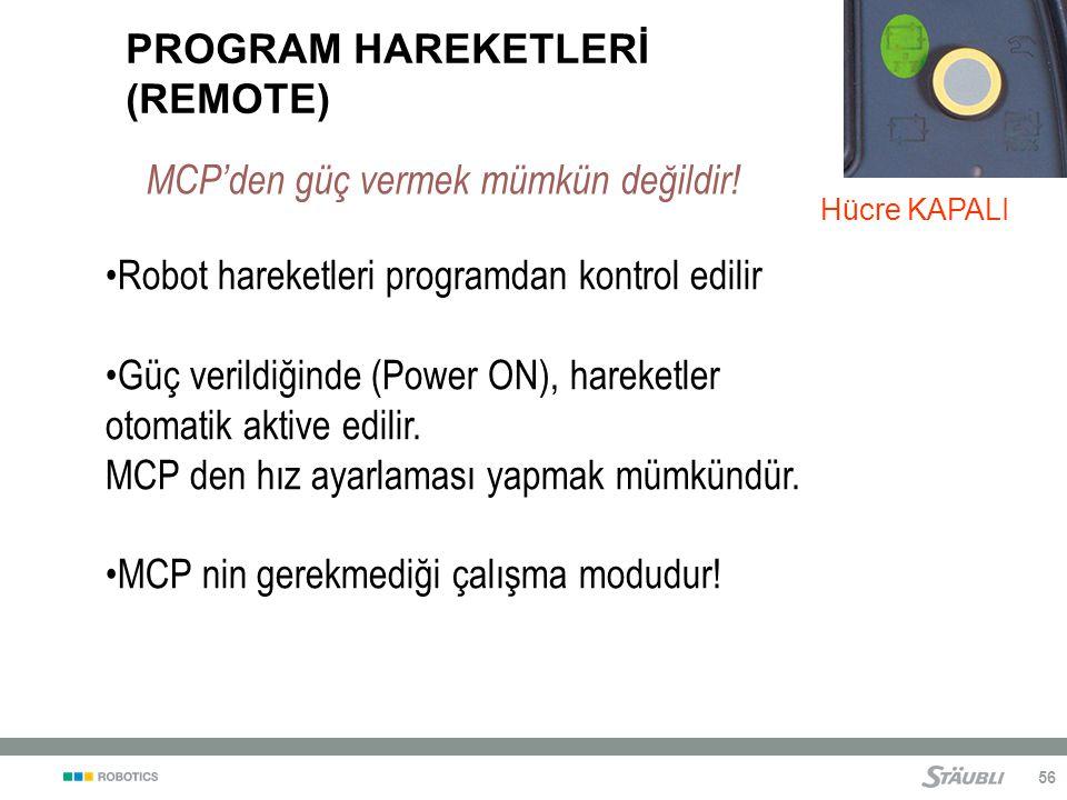 PROGRAM HAREKETLERİ (REMOTE)