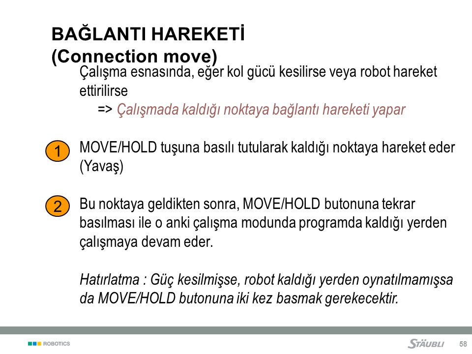 BAĞLANTI HAREKETİ (Connection move)