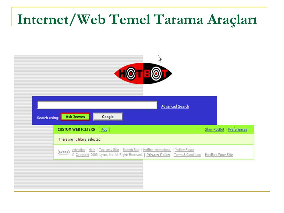 Internet/Web Temel Tarama Araçları