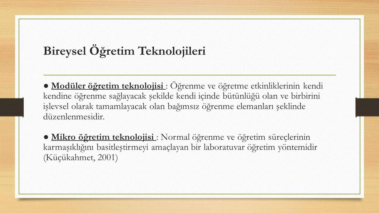 Bireysel Öğretim Teknolojileri