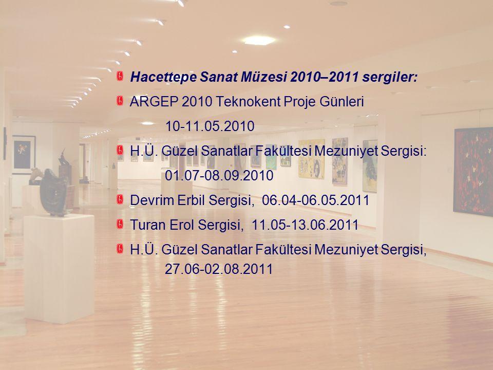 Hacettepe Sanat Müzesi 2010–2011 sergiler: