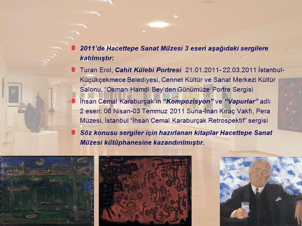2011'de Hacettepe Sanat Müzesi 3 eseri aşağıdaki sergilere katılmıştır: