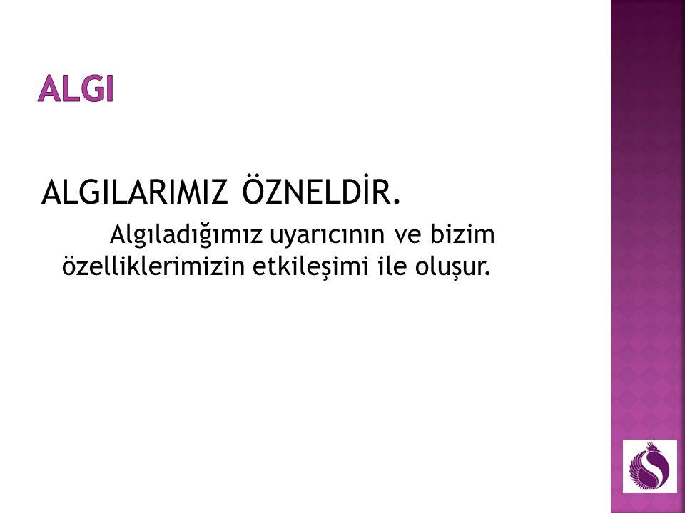 ALGI ALGILARIMIZ ÖZNELDİR.