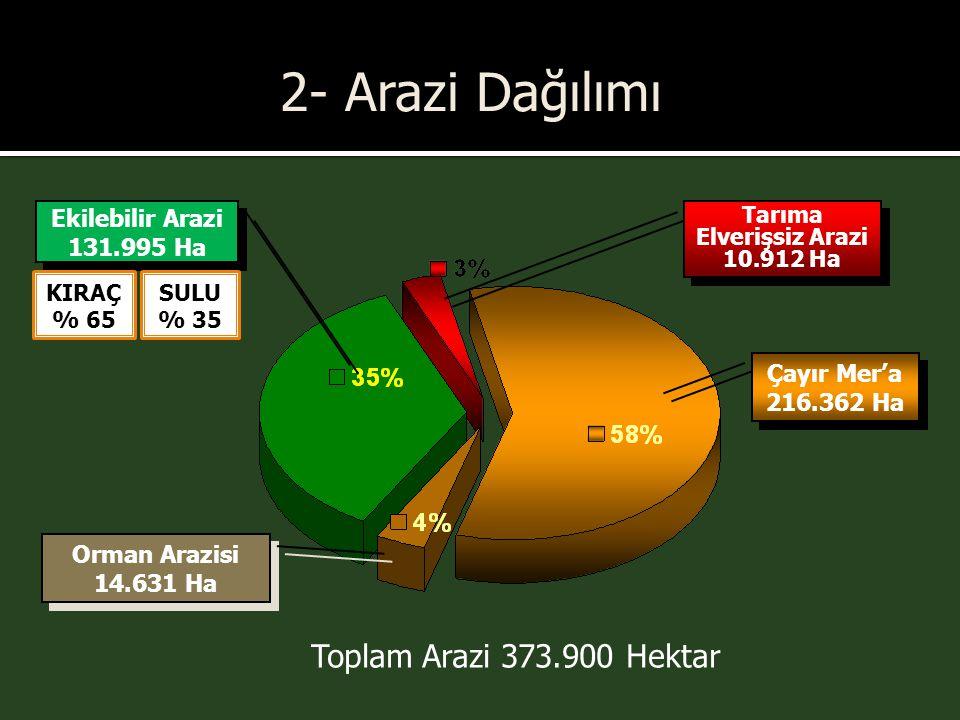 Tarıma Elverişsiz Arazi 10.912 Ha