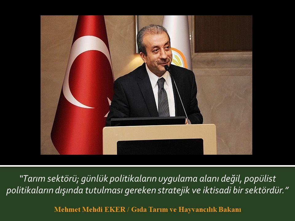Mehmet Mehdi EKER / Gıda Tarım ve Hayvancılık Bakanı