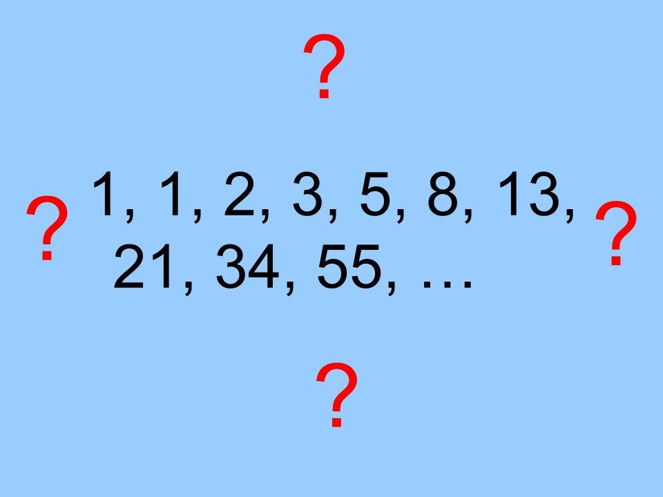 1, 1, 2, 3, 5, 8, 13, 21, 34, 55, …