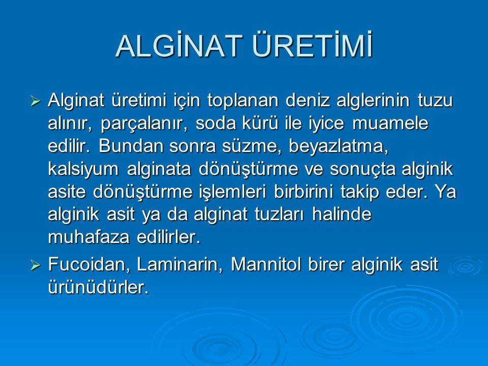 ALGİNAT ÜRETİMİ