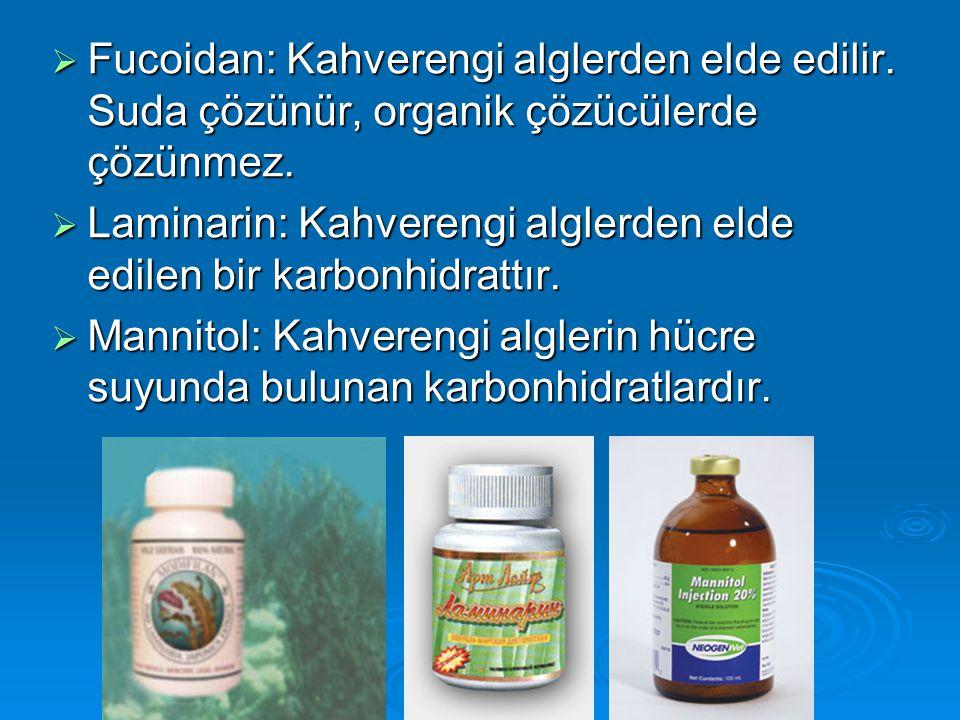 Fucoidan: Kahverengi alglerden elde edilir