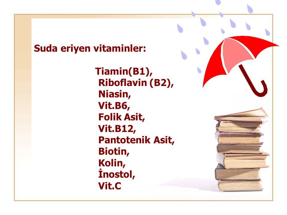 Suda eriyen vitaminler: