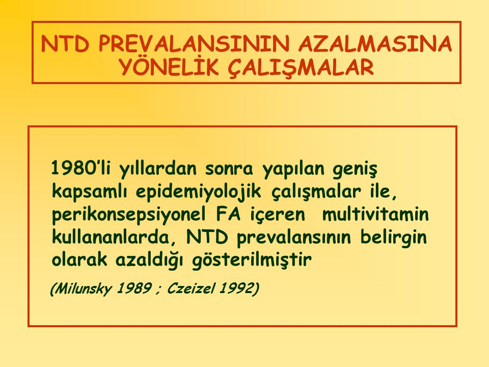 NTD PREVALANSININ AZALMASINA YÖNELİK ÇALIŞMALAR