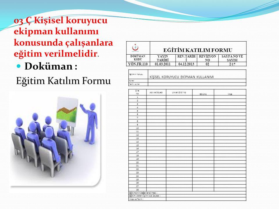 Doküman : Eğitim Katılım Formu