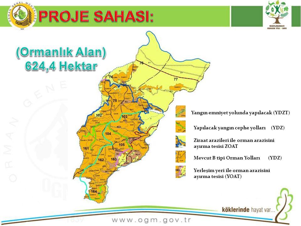 PROJE SAHASI: (Ormanlık Alan) 624,4 Hektar