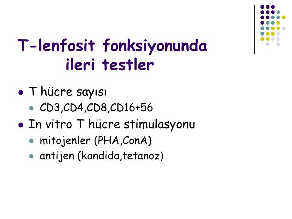 T-lenfosit fonksiyonunda ileri testler