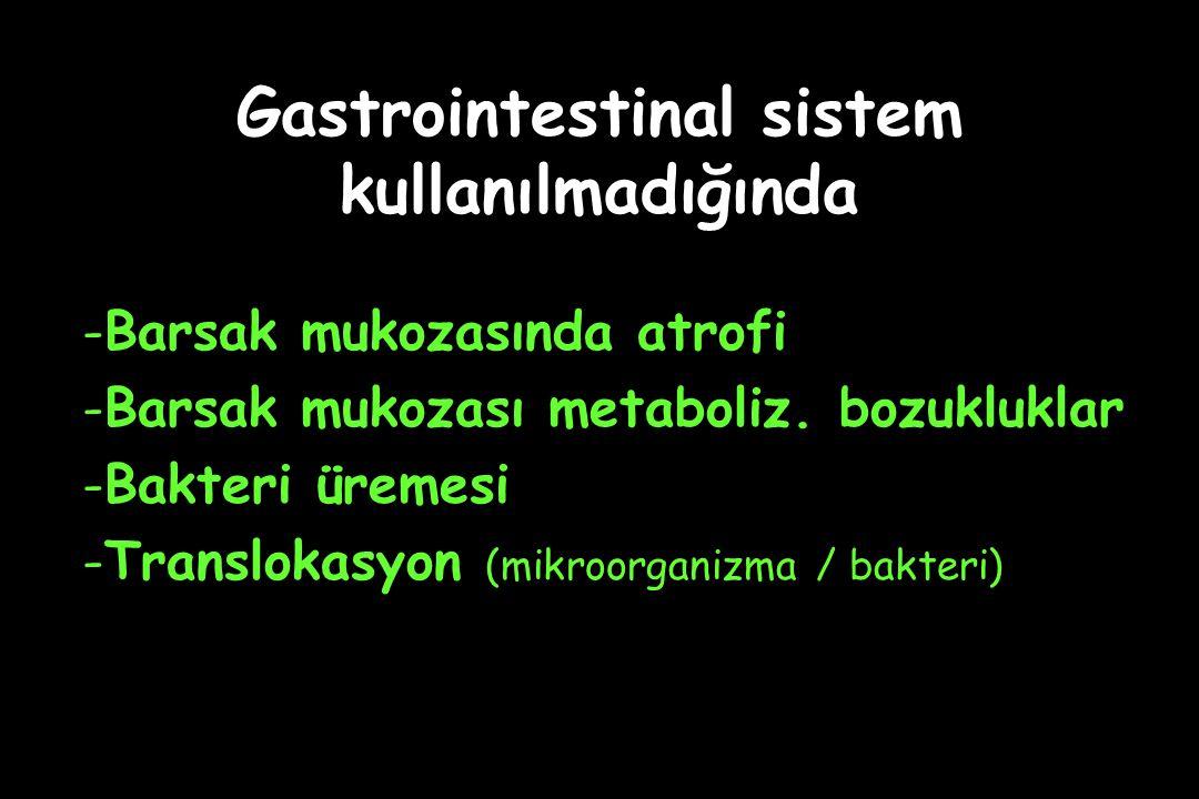 Gastrointestinal sistem kullanılmadığında