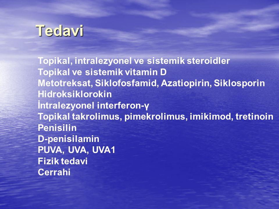 Tedavi Topikal, intralezyonel ve sistemik steroidler