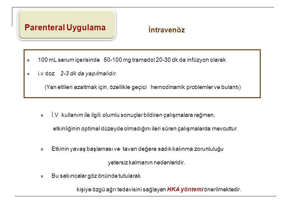 Parenteral Uygulama İntravenöz
