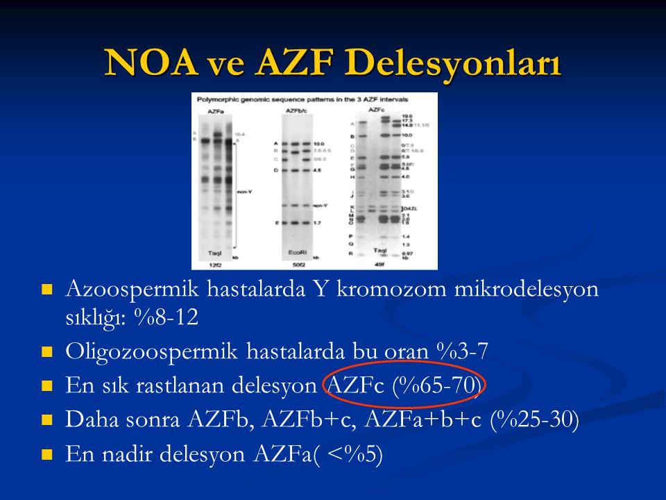 NOA ve AZF Delesyonları