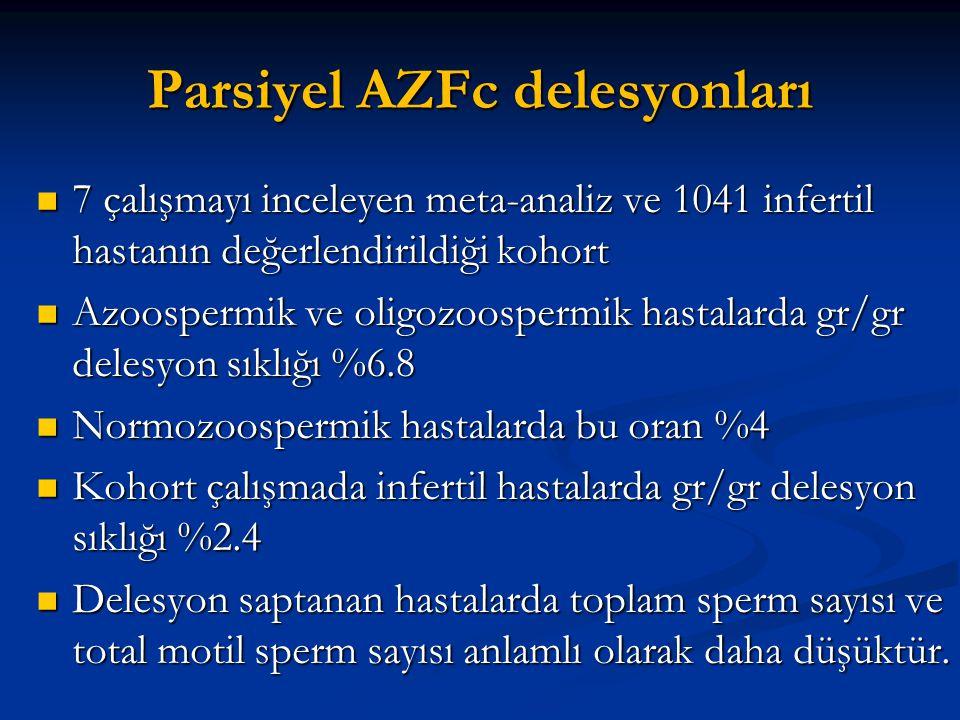 Parsiyel AZFc delesyonları
