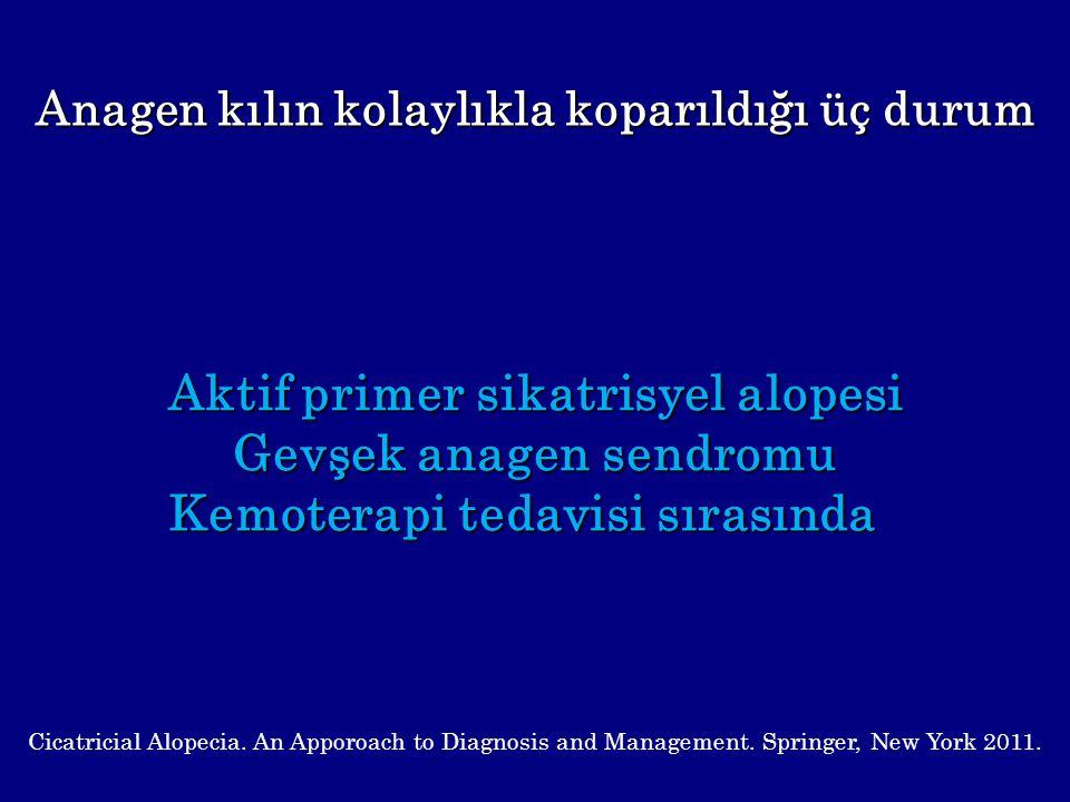 Aktif primer sikatrisyel alopesi Gevşek anagen sendromu