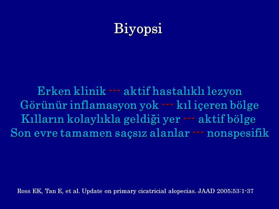 Biyopsi Erken klinik --- aktif hastalıklı lezyon
