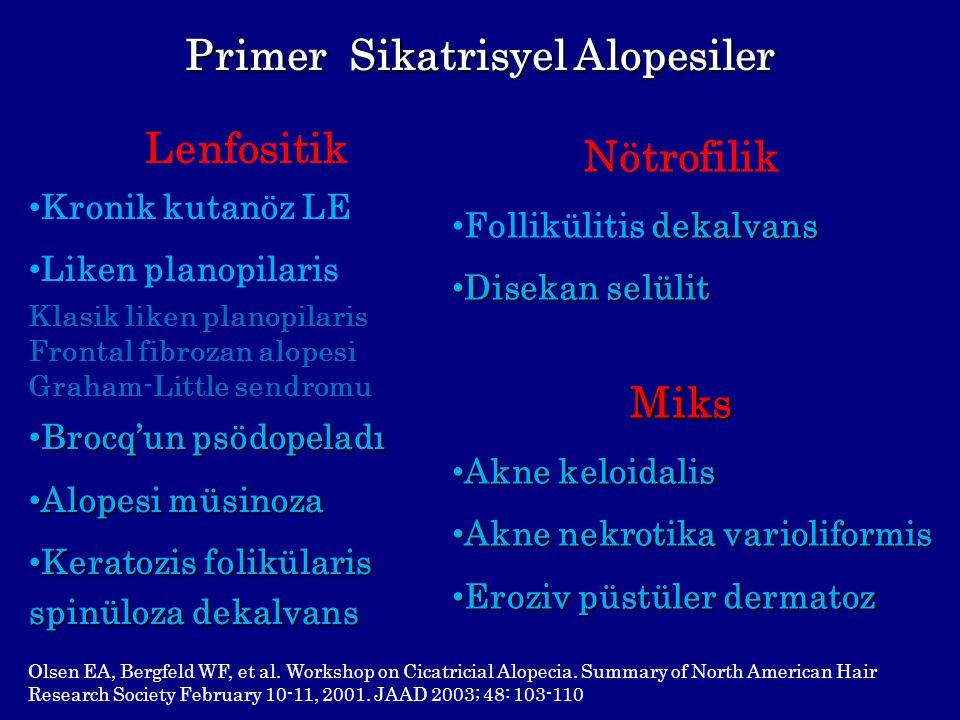 Primer Sikatrisyel Alopesiler