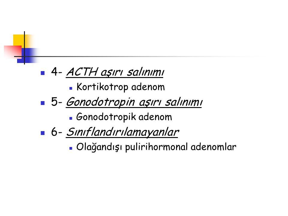 5- Gonodotropin aşırı salınımı 6- Sınıflandırılamayanlar