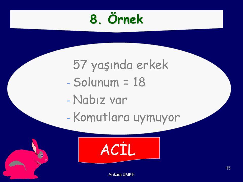 ACİL 8. Örnek Solunum = 18 Nabız var Komutlara uymuyor