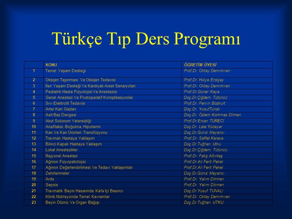 Türkçe Tıp Ders Programı