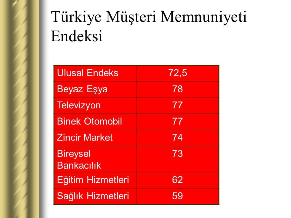 Türkiye Müşteri Memnuniyeti Endeksi