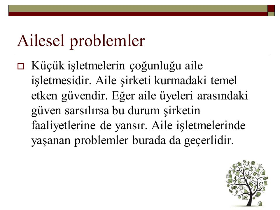 Ailesel problemler