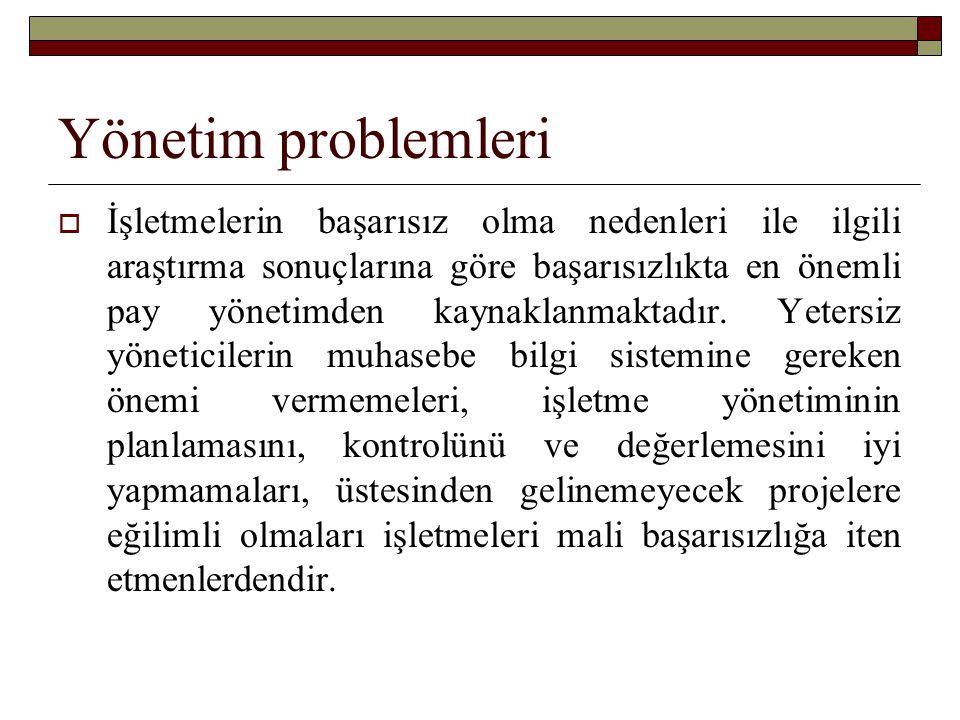 Yönetim problemleri