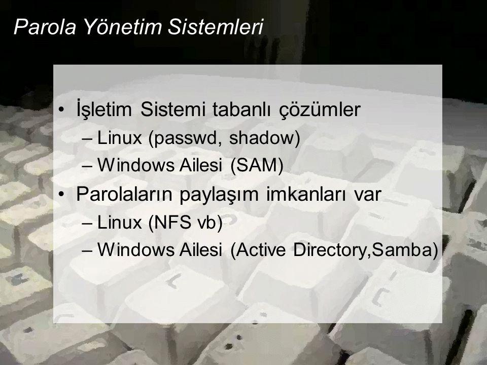 Parola Yönetim Sistemleri