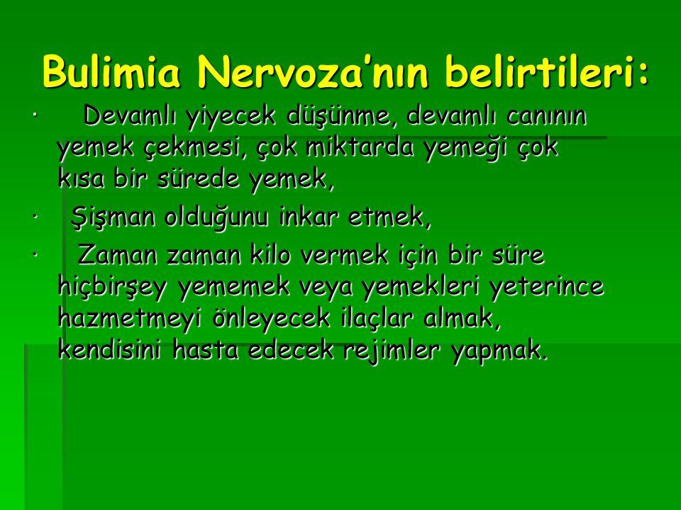 Bulimia Nervoza'nın belirtileri:
