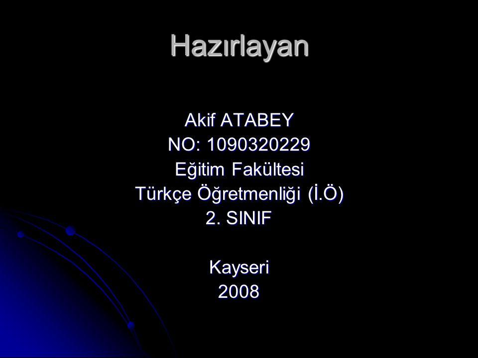 Türkçe Öğretmenliği (İ.Ö)