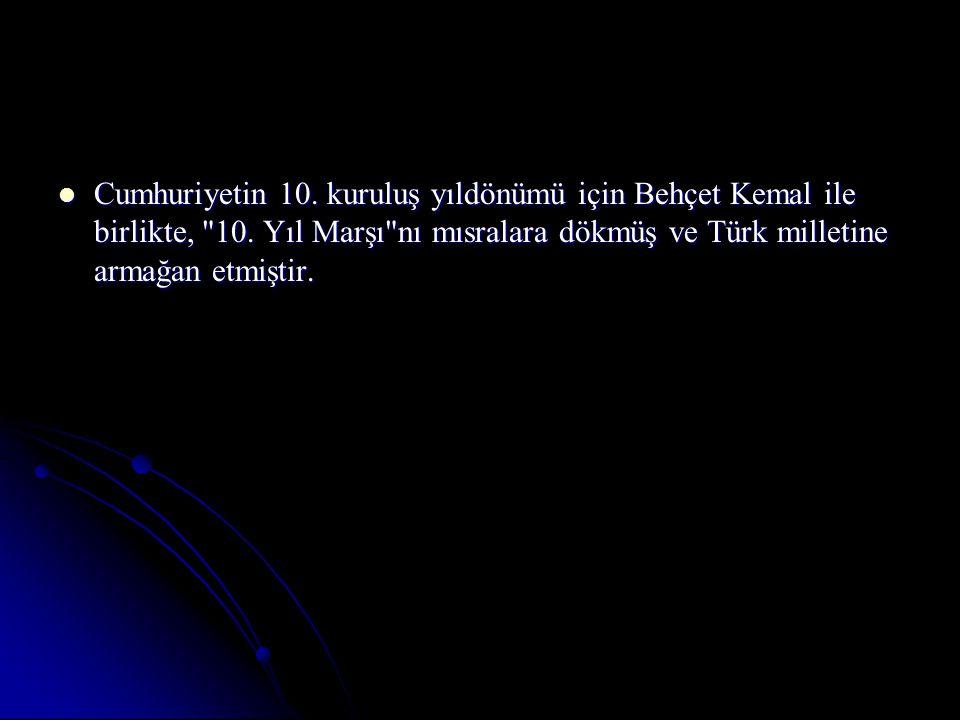 Cumhuriyetin 10. kuruluş yıldönümü için Behçet Kemal ile birlikte, 10