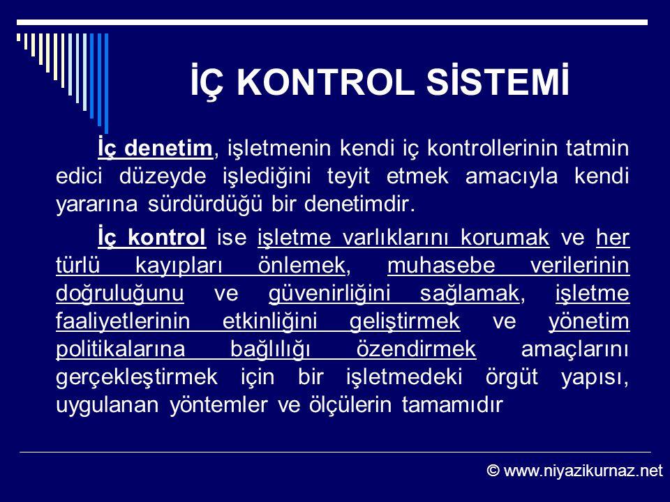 İÇ KONTROL SİSTEMİ