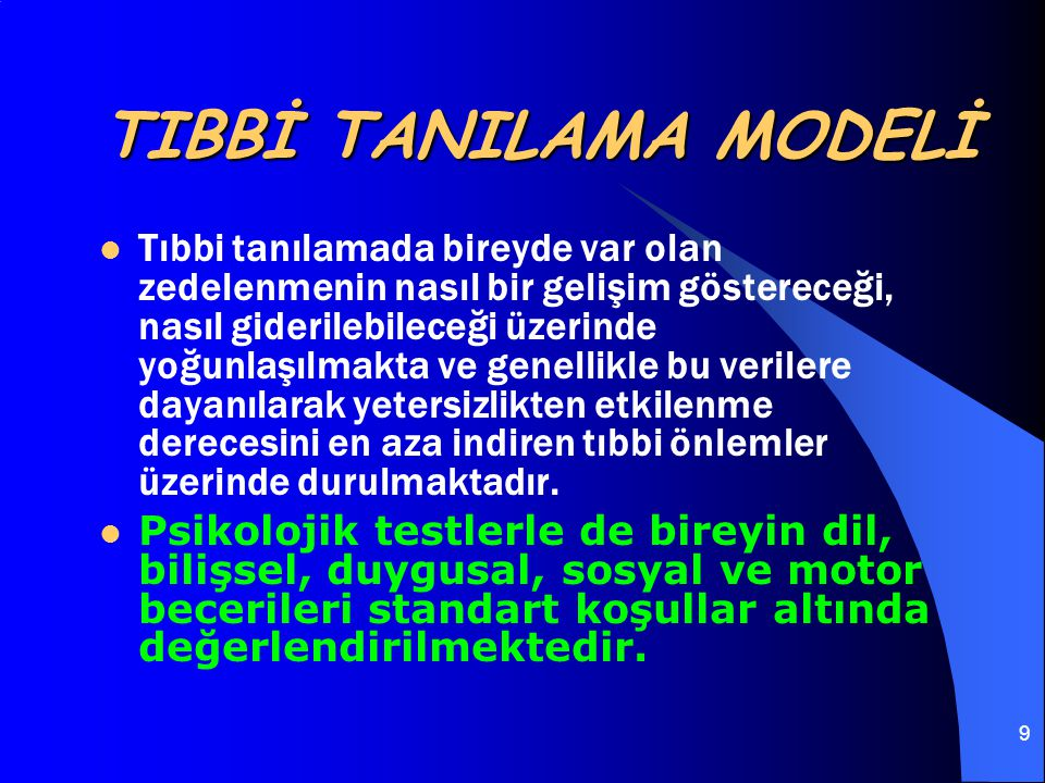 TIBBİ TANILAMA MODELİ