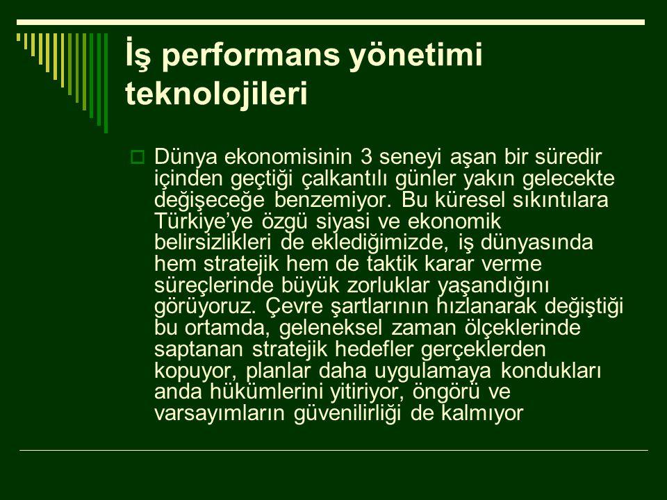 İş performans yönetimi teknolojileri