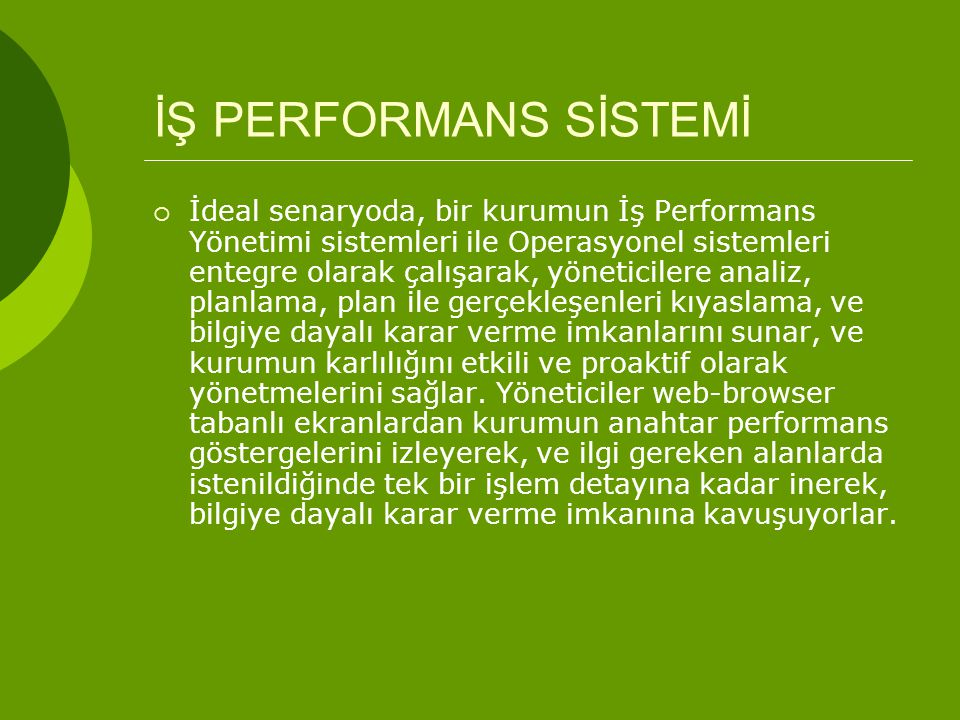 İŞ PERFORMANS SİSTEMİ
