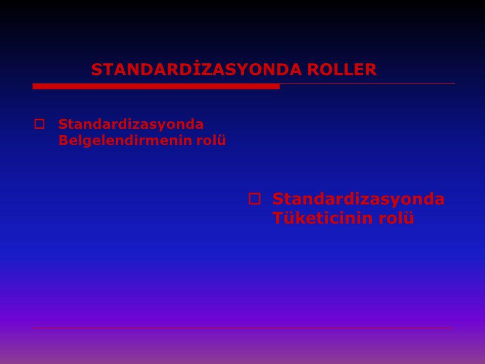 STANDARDİZASYONDA ROLLER