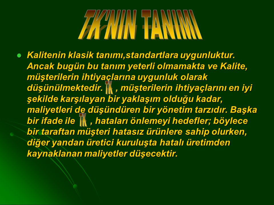 TK NIN TANIMI