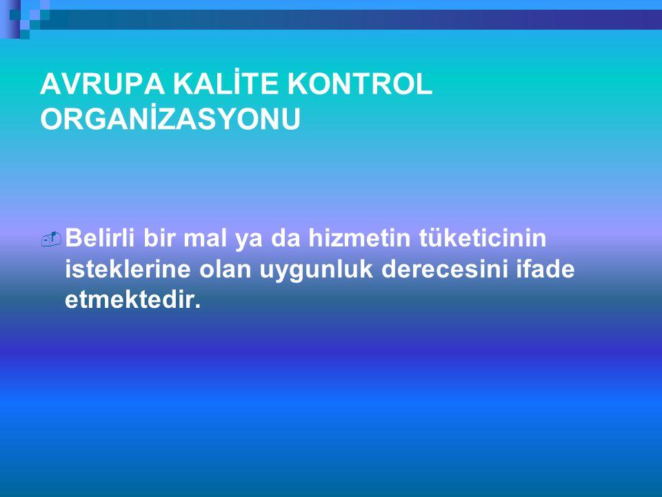 AVRUPA KALİTE KONTROL ORGANİZASYONU