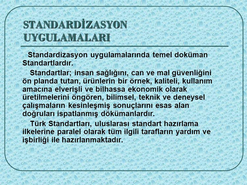 STANDARDİZASYON UYGULAMALARI
