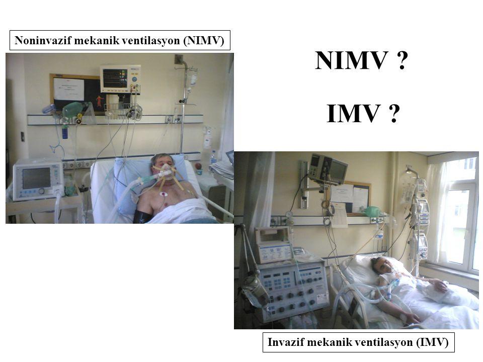 NIMV IMV Noninvazif mekanik ventilasyon (NIMV)