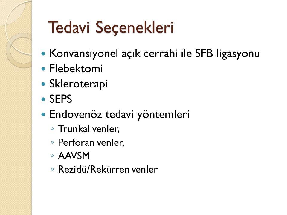 Tedavi Seçenekleri Konvansiyonel açık cerrahi ile SFB ligasyonu