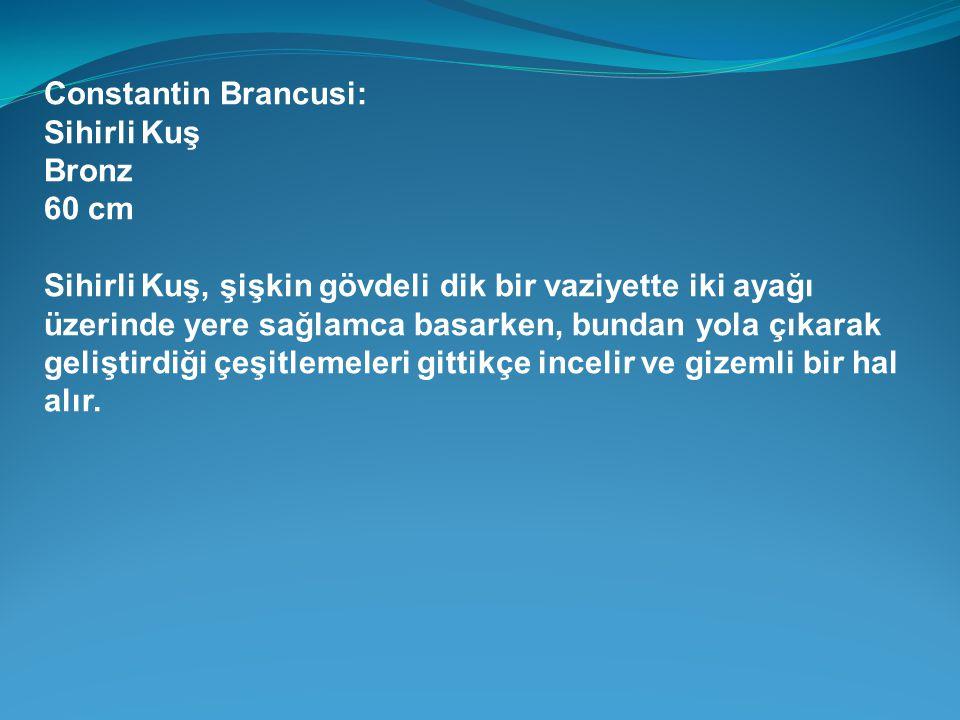 Constantin Brancusi: Sihirli Kuş. Bronz. 60 cm.