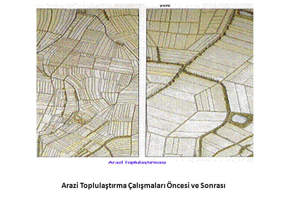 Arazi Toplulaştırma Çalışmaları Öncesi ve Sonrası