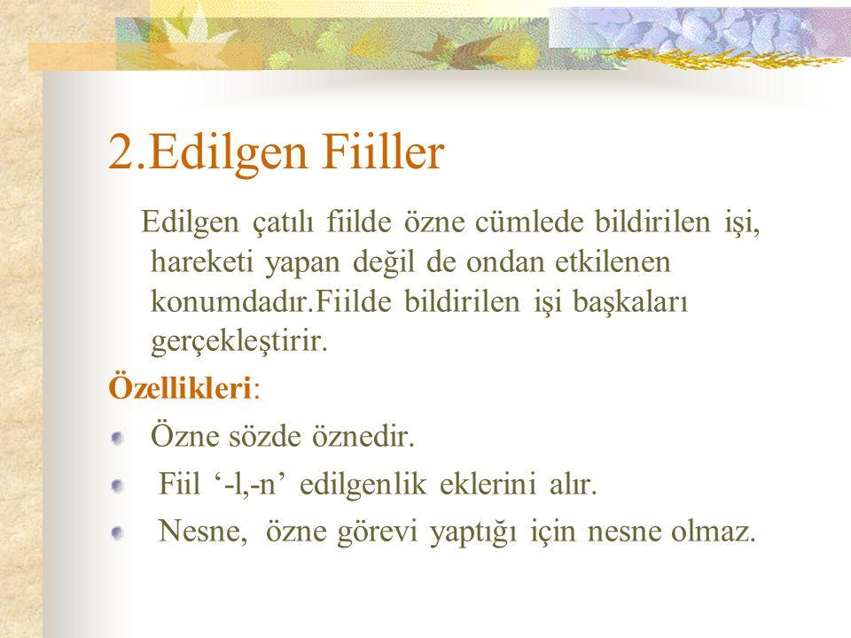 2.Edilgen Fiiller